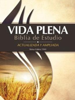 Biblia De Estudio Vida Plena Actualizada RVR 1960, Piel Negro Con Índice