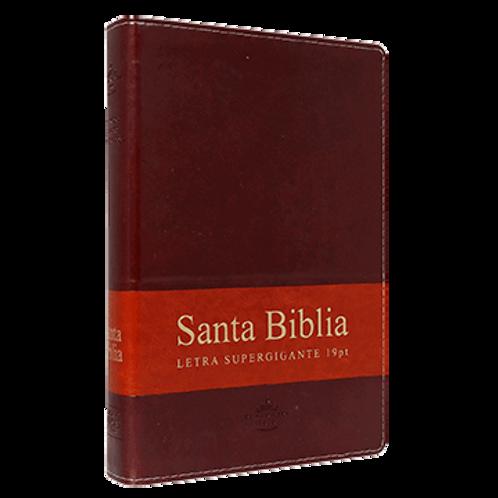 Biblia Letra Súper Gigante RVR 1960, Piel Marrón Con Índice