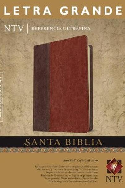 Biblia NTV, Ultrafina, Letra Grande, Imitación Piel Café - Café Claro