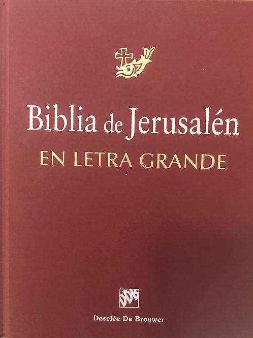 Biblia De Jerusalén Con Letra Grande, Tapa Dura