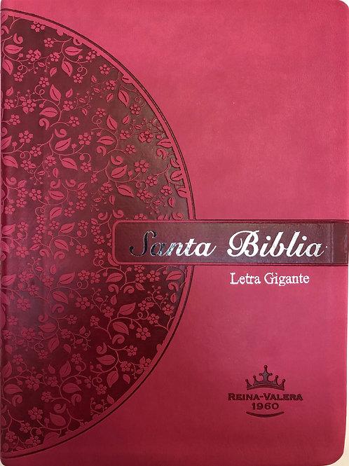 Biblia Letra Gigante RVR 1960, Imitación Piel Rosa