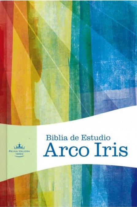 Biblia De Estudio Arco Iris RVR 1960, Piel Fabricada Negro Con Índice