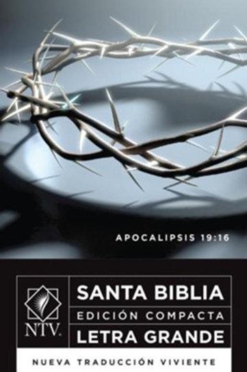 Biblia NTV Edición Compacta, SentiPiel Gris-Negro