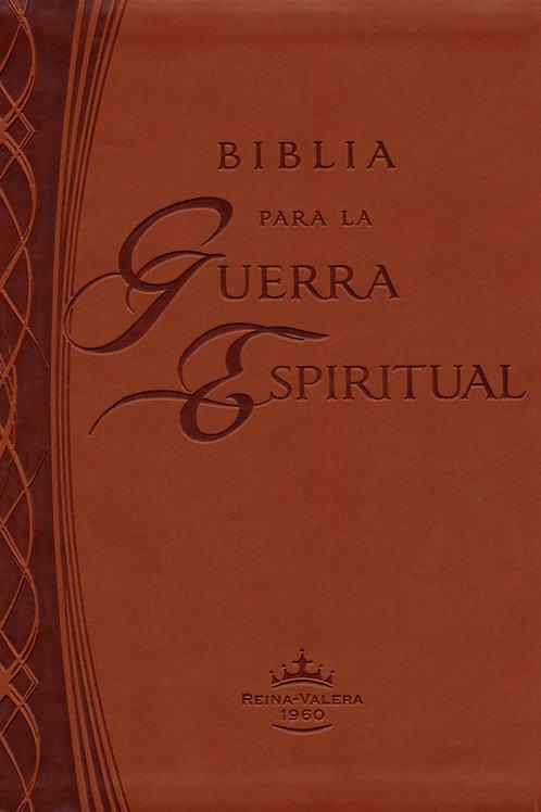 Biblia Para La Guerra Espiritual RVR 1960, Imitación Piel Marrón
