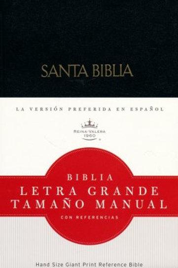 Biblia Letra Grande Tamaño Manual, RVR 1960, Tapa Dura Negro