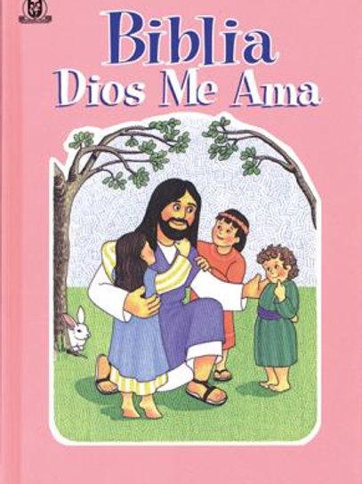 Biblia Dios me ama (Rosa)