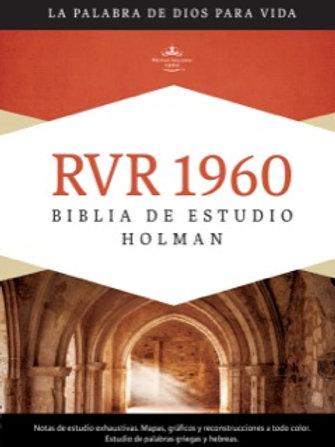 Biblia de estudio Holman RVR 1960, Tapa Dura con índice