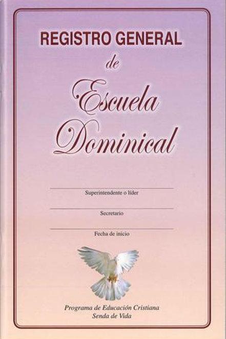 Registro general de Escuela Dominical