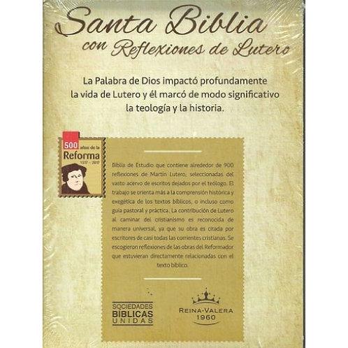 Biblia Con Reflexiones De Lutero RVR 1960, Piel Marrón