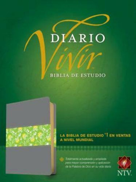 Biblia De Estudio Diario Vivir, NTV, Con Índice, SentiPiel Gris / Verde