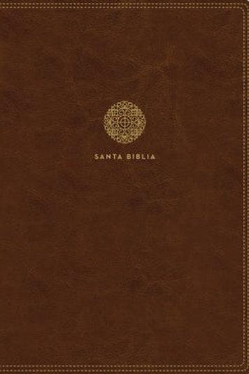 Biblia Letra Súper Gigante RVR 1960, Imitación Piel Café Con Índice, Zíper