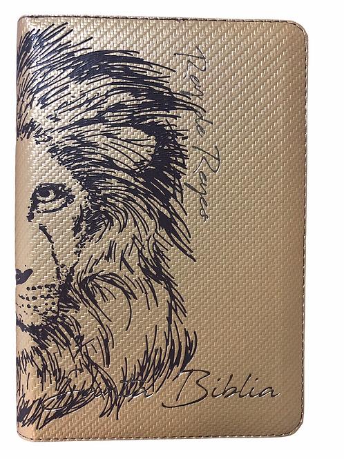 Biblia Letra Grande Tamaño Manual RVR 1960, Imitación Piel Dorado