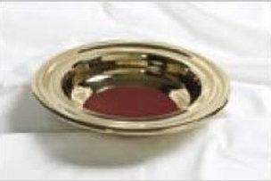 Bandeja de Ofrenda Dorada con tela rojo
