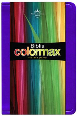Biblia Colormax RVR 1960, Imitación Piel Violeta Fiesta