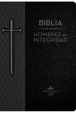 Biblia hombres de integridad,imitación piel negro, RVR 1960