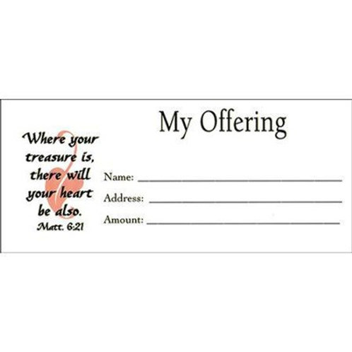 My Offering, Envelopes, Pack of 100, Bill size