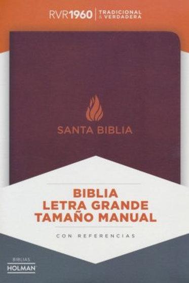 Biblia Letra Grande Tamaño Manual, RVR 1960, Piel Fabricada Marrón