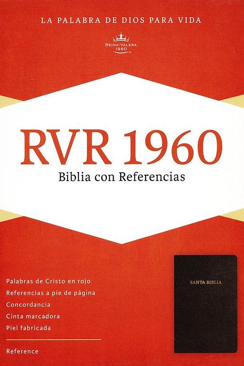 Biblia Con Referencias RVR 1960, Imitación Piel Negro Con Índice
