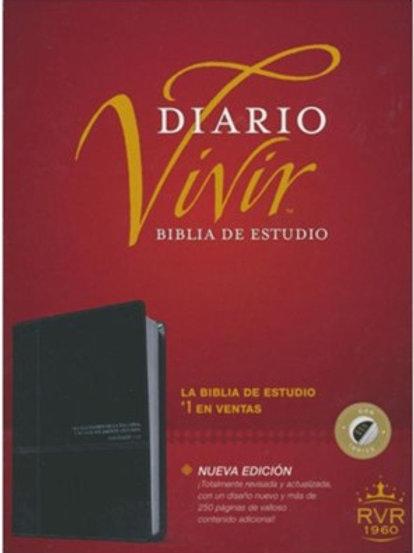 Biblia De Estudio Diario Vivir RVR 1960, Piel Negro / Ónice Con Índice