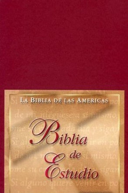 Biblia De Estudio De Las Americas,Imitación Piel Vino Con Índice