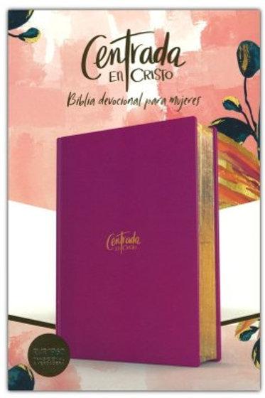 """Biblia Devocional para mujeres """"Centrada en Cristo"""" RVR 1960, Tapa Dura"""