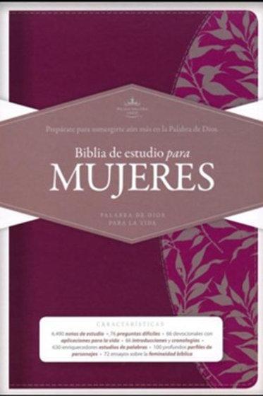 Biblia De Estudio Para Mujeres RVR 1960, Símil Piel Con Índice