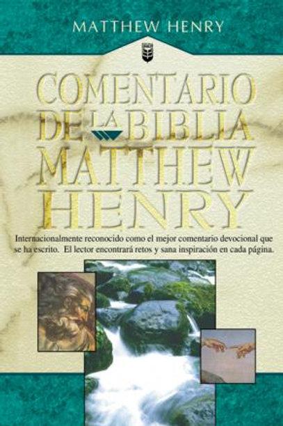 Comentario de la Biblia Matthew Henry en un tomo