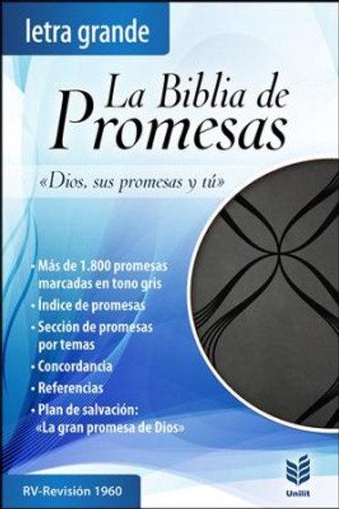 La Biblia de Promesas, Letra Grande, Piel Negra RVR 1960
