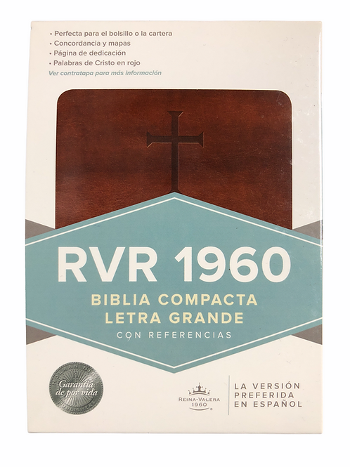 Biblia Compacta RVR 1960, Símil Piel Marrón