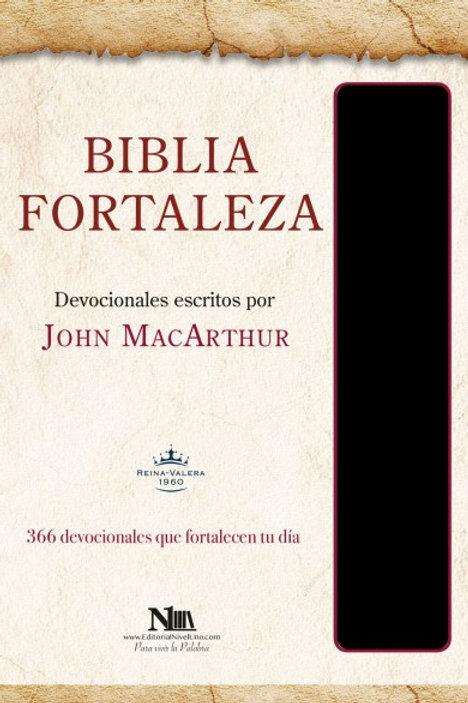 Biblia Fortaleza, imitación piel negro RVR 1960