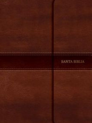 Biblia compacta RVR 1960,  Símil Piel Marrón con solapa e imán