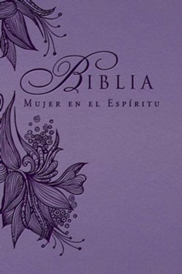 Biblia Mujer en el Espíritu, Piel imit. Lavanda RVR 1960