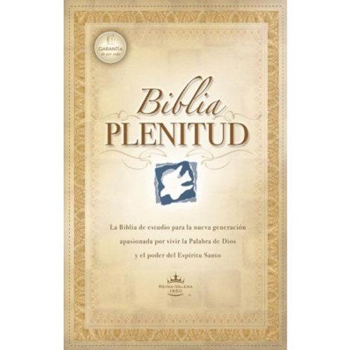 Biblia Plenitud, RVR 1960, Piel Elaborada Negro Con Índice