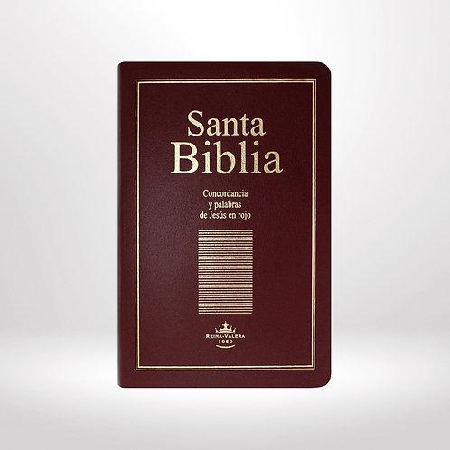 Biblia Letra Grande Tamaño Manual RVR 1960, Imitación Piel Con Índice
