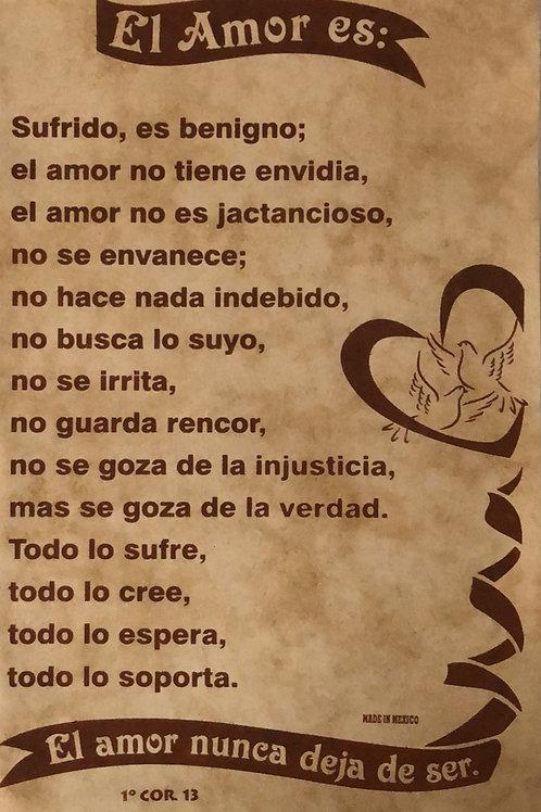 El amor es (Pergamino)