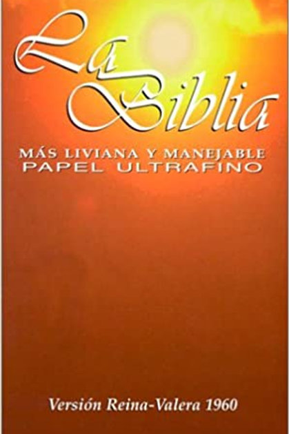 Biblia Más Liviana RVR 1960, Imitación Piel Con Zíper