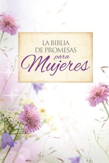 Biblia De Promesas Letra Grande RVR 1960, Piel Especial Floral Con Índice
