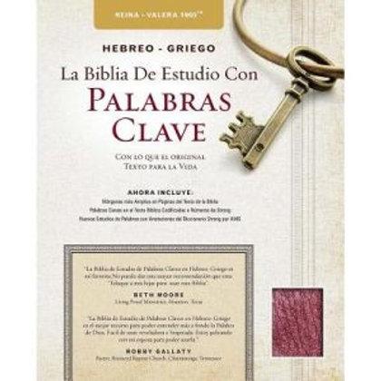Biblia de estudio con Palabras Clave piel vino RVR 1960