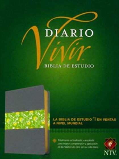 Biblia De Estudio Diario Vivir NTV, SentiPiel Gris / Verde
