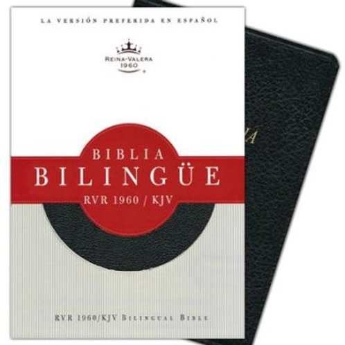 Biblia Bilingúe RVR 1960-KJV, Piel Fabricada Negro