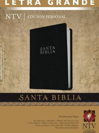 Biblia NTV, Letra Grande, Edición Personal, Piel Negro Con Índice