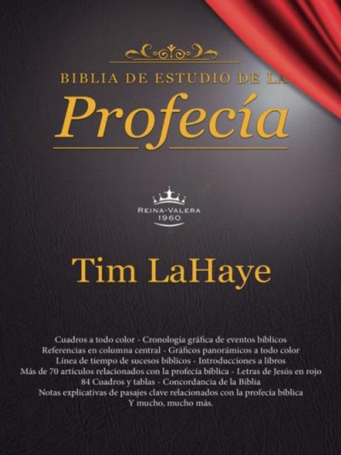 Biblia de estudio de la profecía  imitación Piel Negro RVR 1960