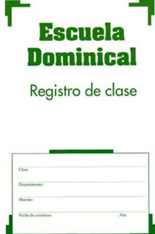 Escuela dominical - Registro de clase
