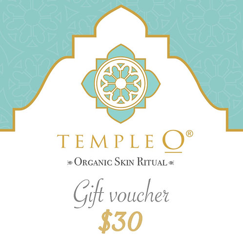 Temple O Gift voucher $30