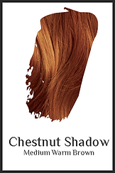 Medium red brown organic hair color