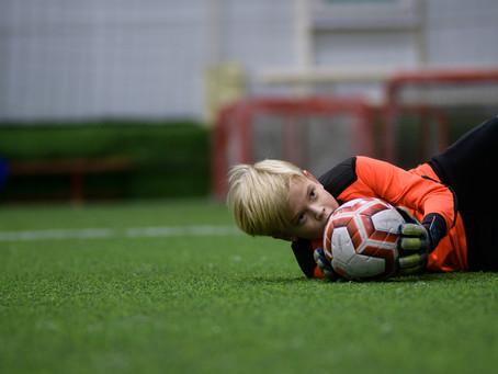 Репортаж с футбольной тренировке