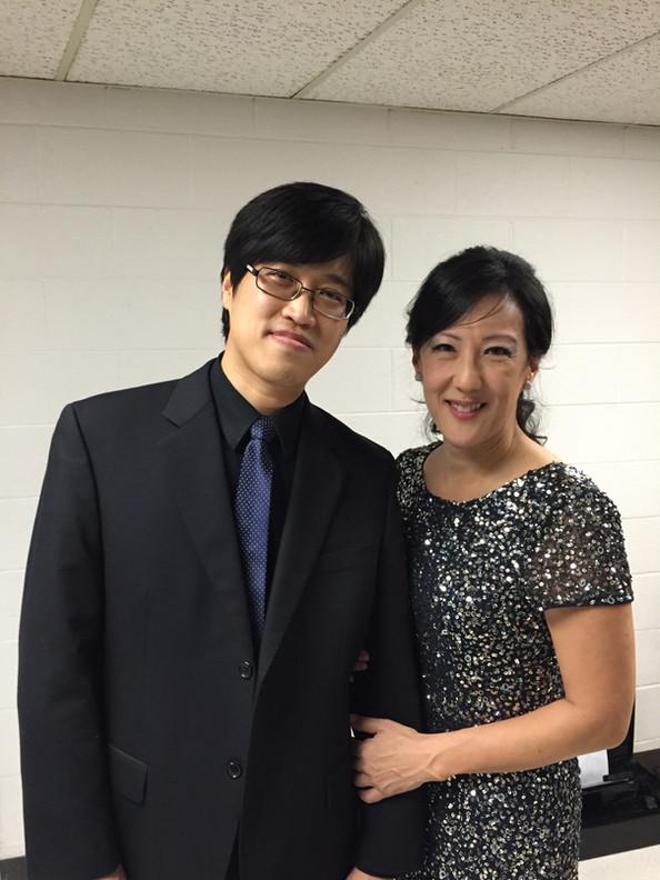 With Dr. Caroline Hong