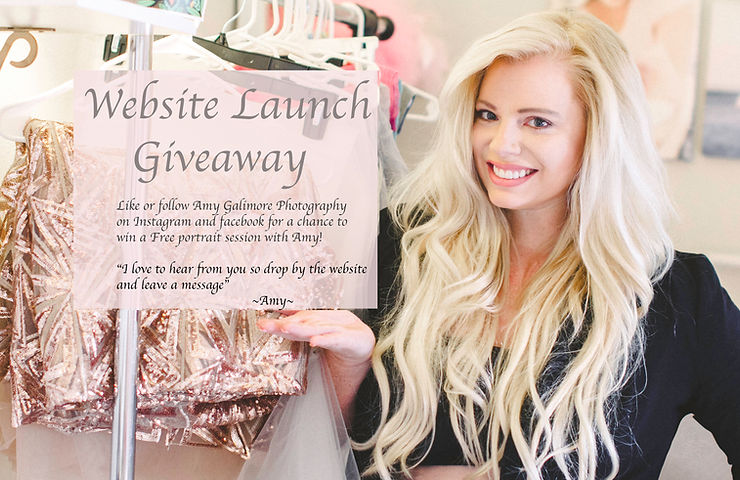 Website Launch Givaway with Amy Galimore