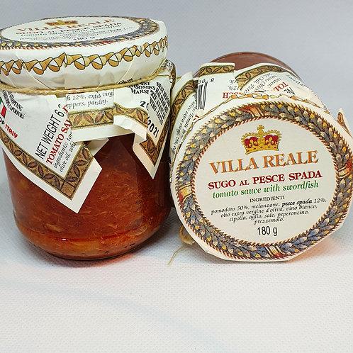 Sugo Al Pesce Spada (Tomatensauce mit Schwertfisch)Villa Reale