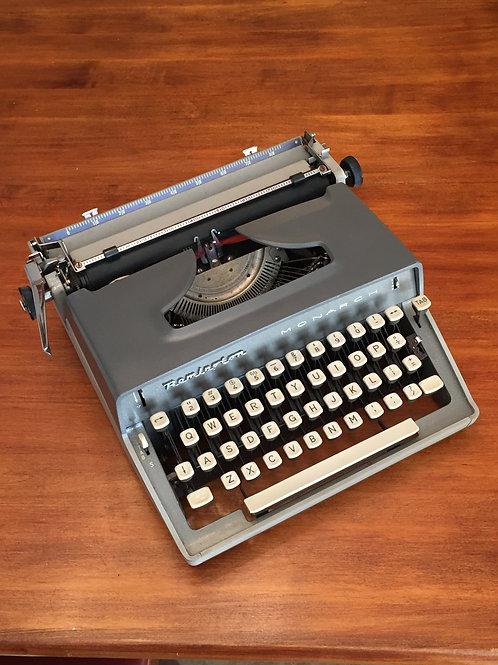 Remington Monarch Two Tone Vintage Manual Typewriter